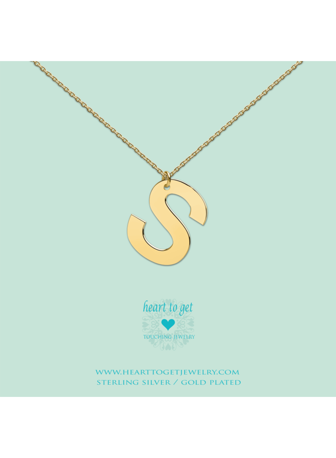 Heart to Get ketting Big Initial S Gold Plated