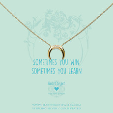 Heart to Get Heart to Get ketting Horn Zirkon Gold Plated
