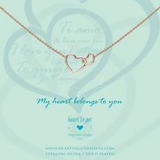 Heart to Get Heart to Get ketting Entwined Hearts Rosé Gold Plated