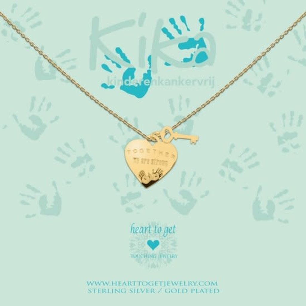 Heart to Get Heart to Get ketting Together we are Strong Gold Plated
