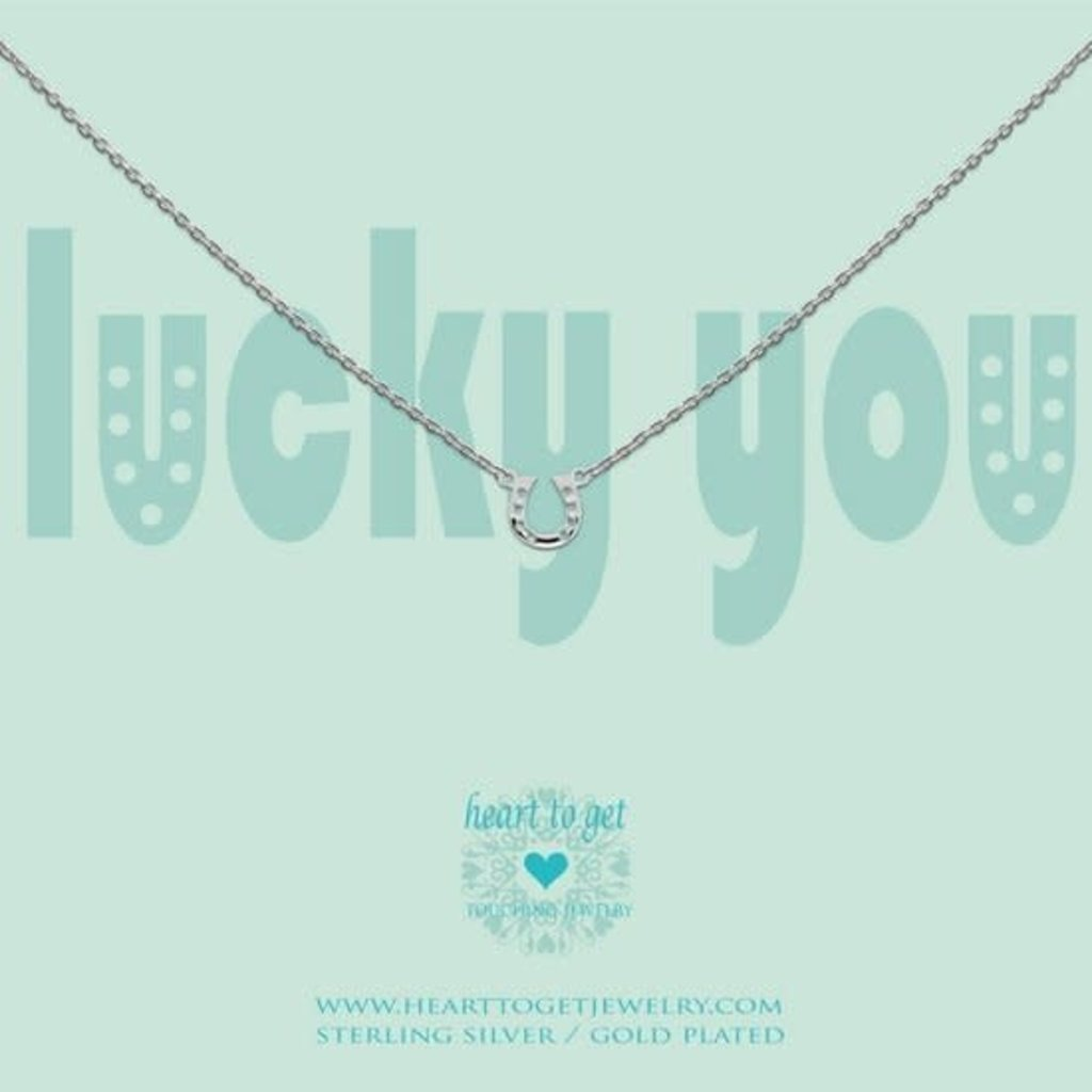 Heart to Get Heart to Get ketting Lucky You Silver