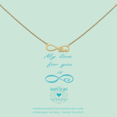 Heart to Get Heart to Get ketting Infinity Love Gold Plated