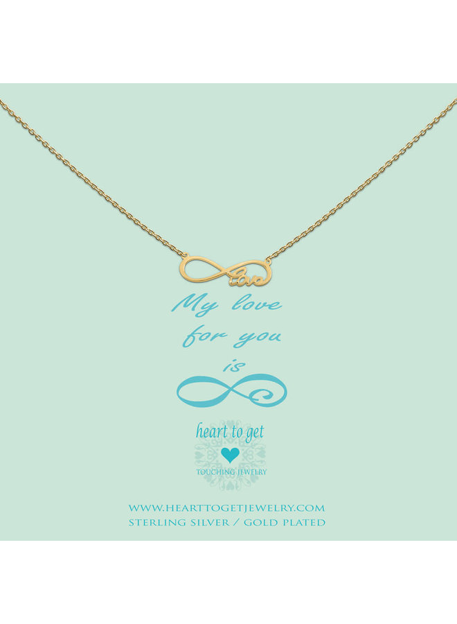 Heart to Get ketting Infinity Love Gold Plated