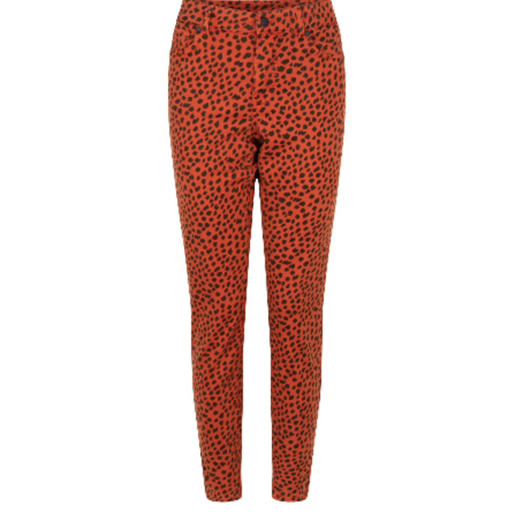Zoso Zoso broek 195 Faith Printed Burnt Orange/Black