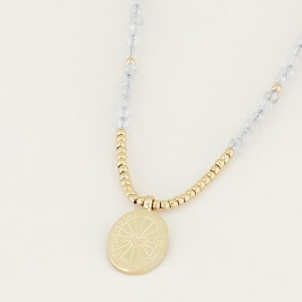 My Jewellery My Jewellery ketting Bedel & Labradorite Goud