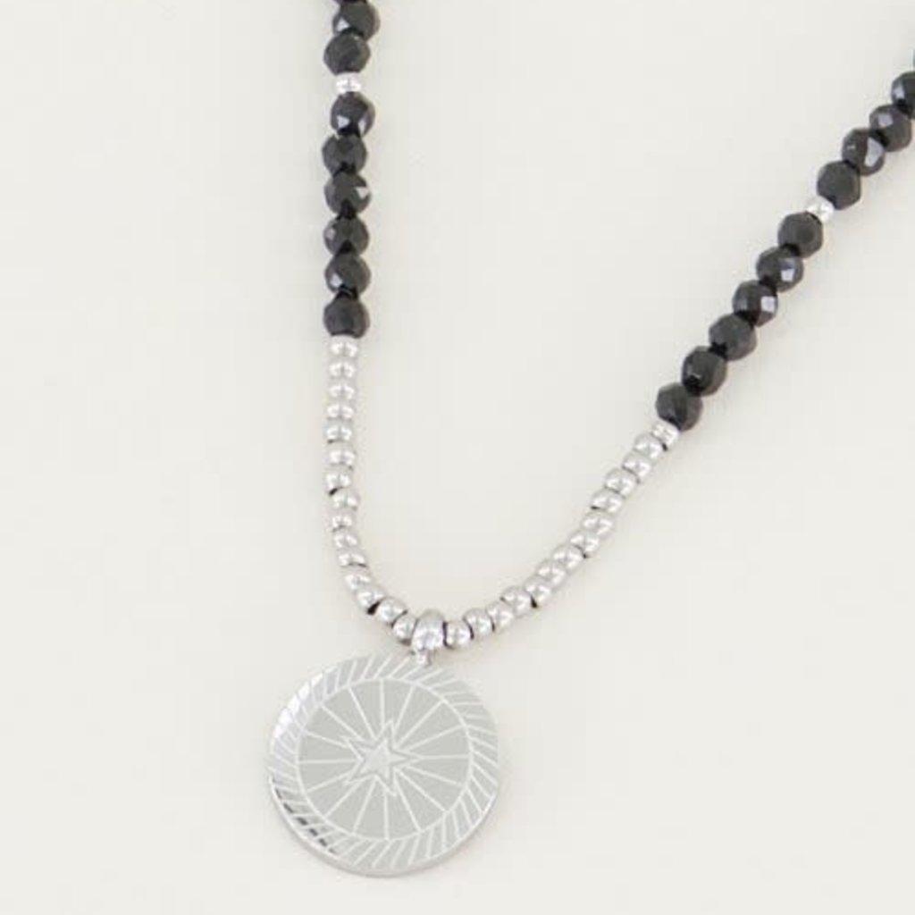 My Jewellery My Jewellery ketting Bedel & Black Onyx Zilver