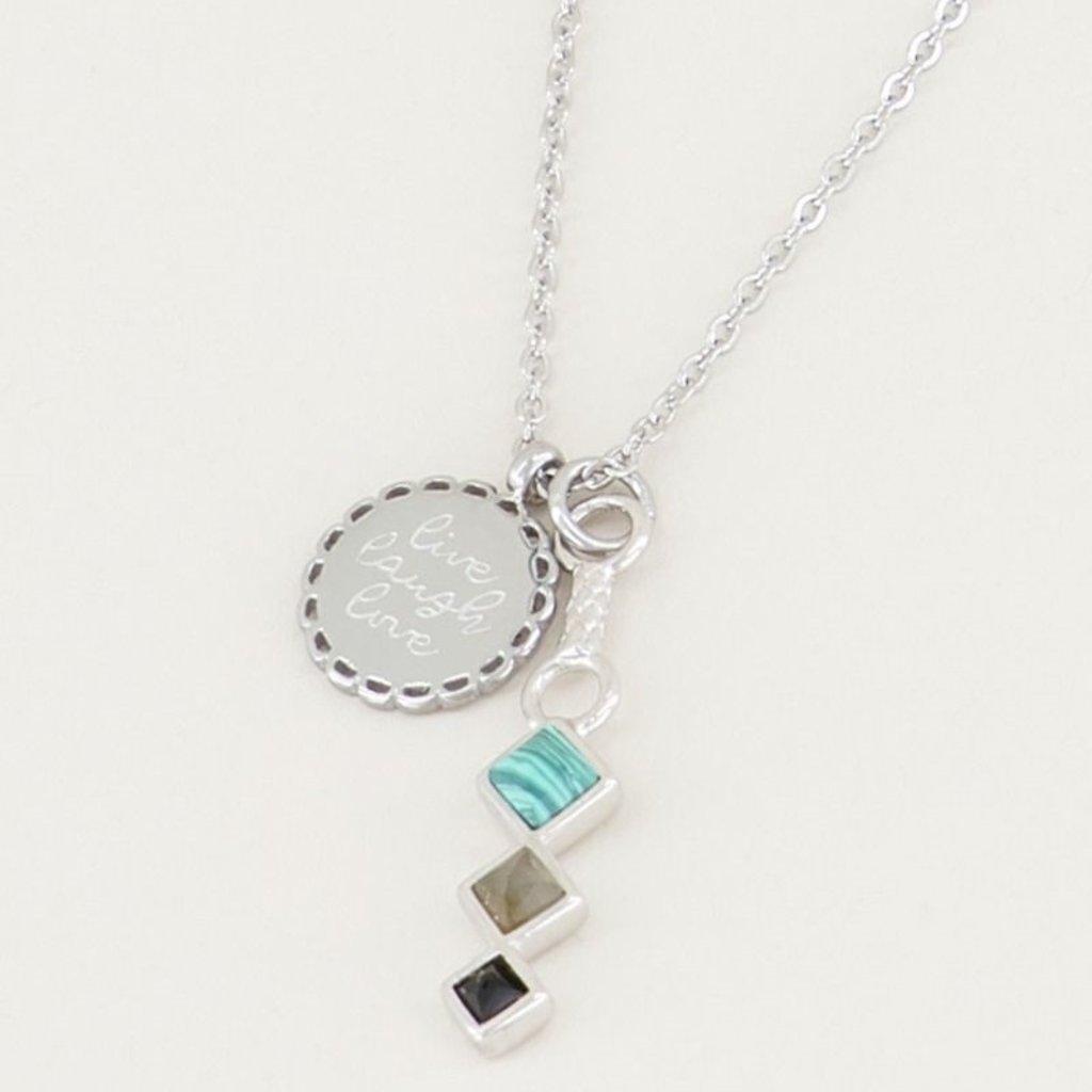 My Jewellery My Jewellery ketting Bedel & Donkere Edelsteentjes Zilver