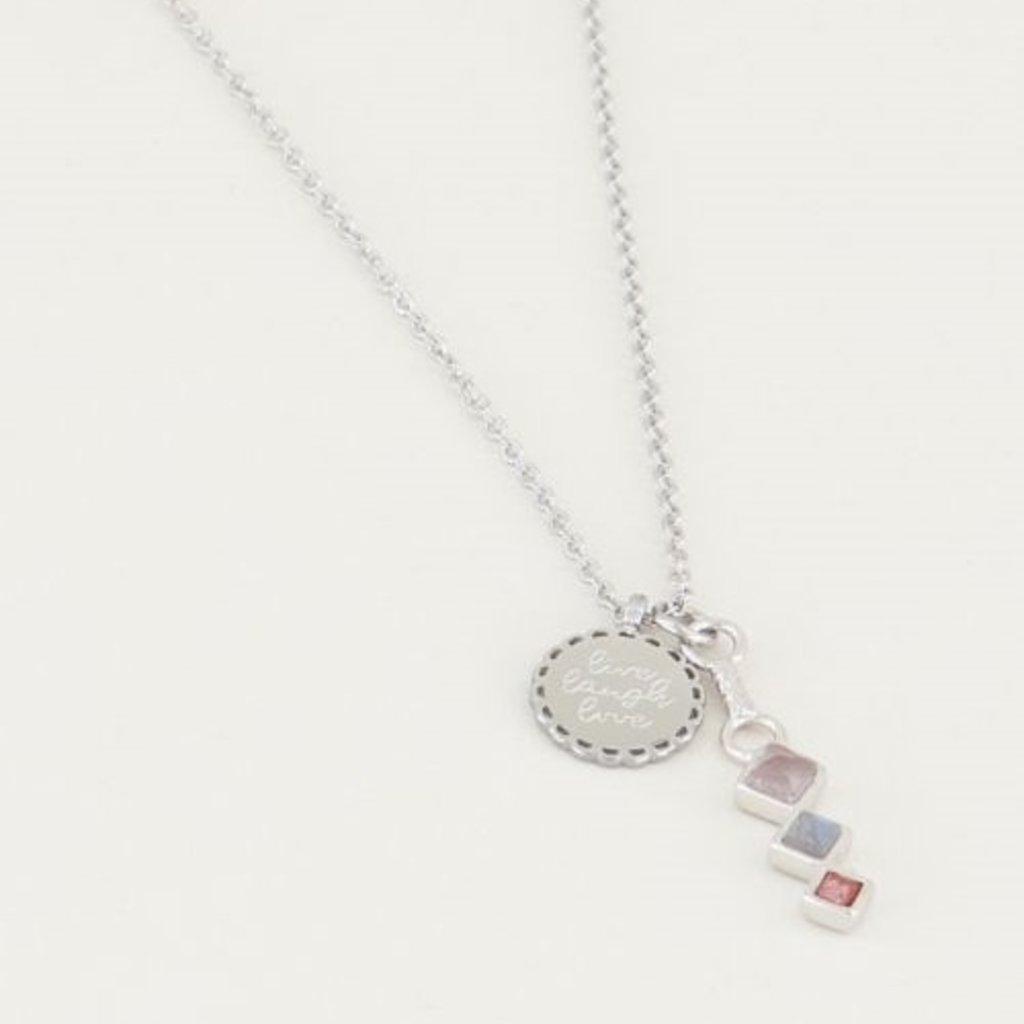 My Jewellery My Jewellery ketting Bedel & Lichte Edelsteentjes Zilver