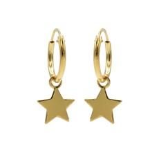 Karma Karma oorbellen Hoops Symbols Star Gold Plated