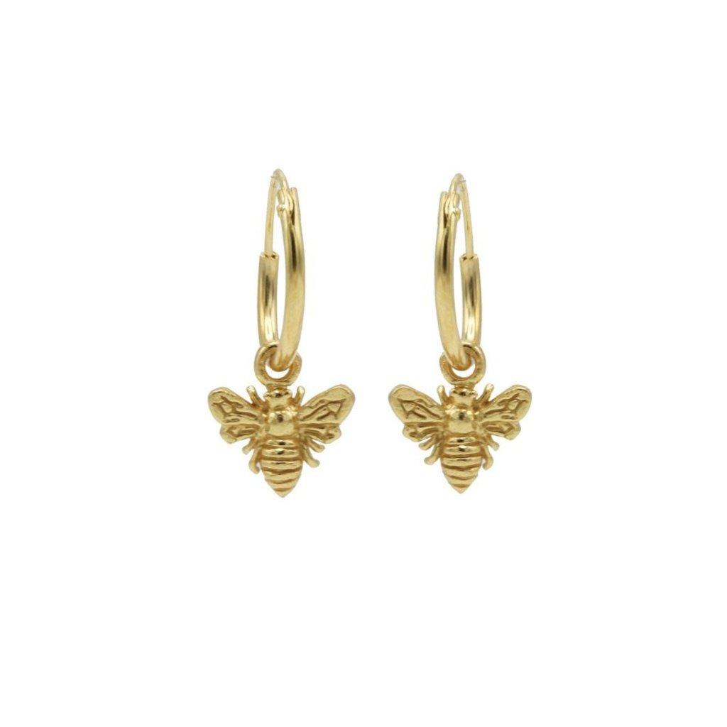Karma Karma oorbellen Hoops Symbols Bee Gold Plated