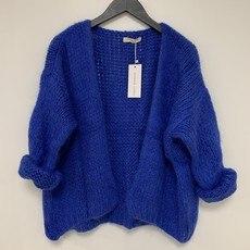Alexandre Laurent Alexandre Laurent vest Pull Mohair Kobalt Blauw