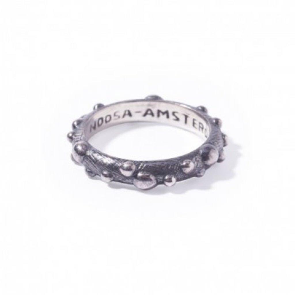 Noosa NOOSA Symbol ring Petite Bumps Oxydized Silver