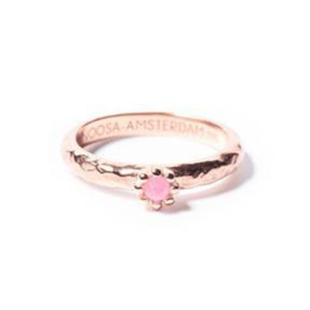 Noosa NOOSA Symbol ring White Jade Stone Rosé Gold