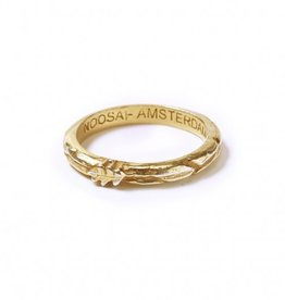 Noosa NOOSA Symbol ring Oakleaf Gold Plated