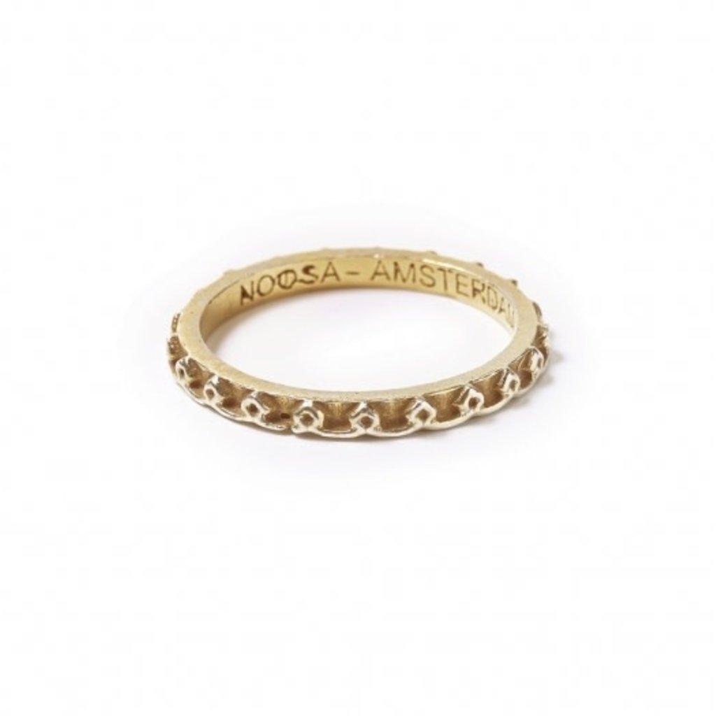 Noosa NOOSA Symbol ring Mandala Samsara Gold Plated