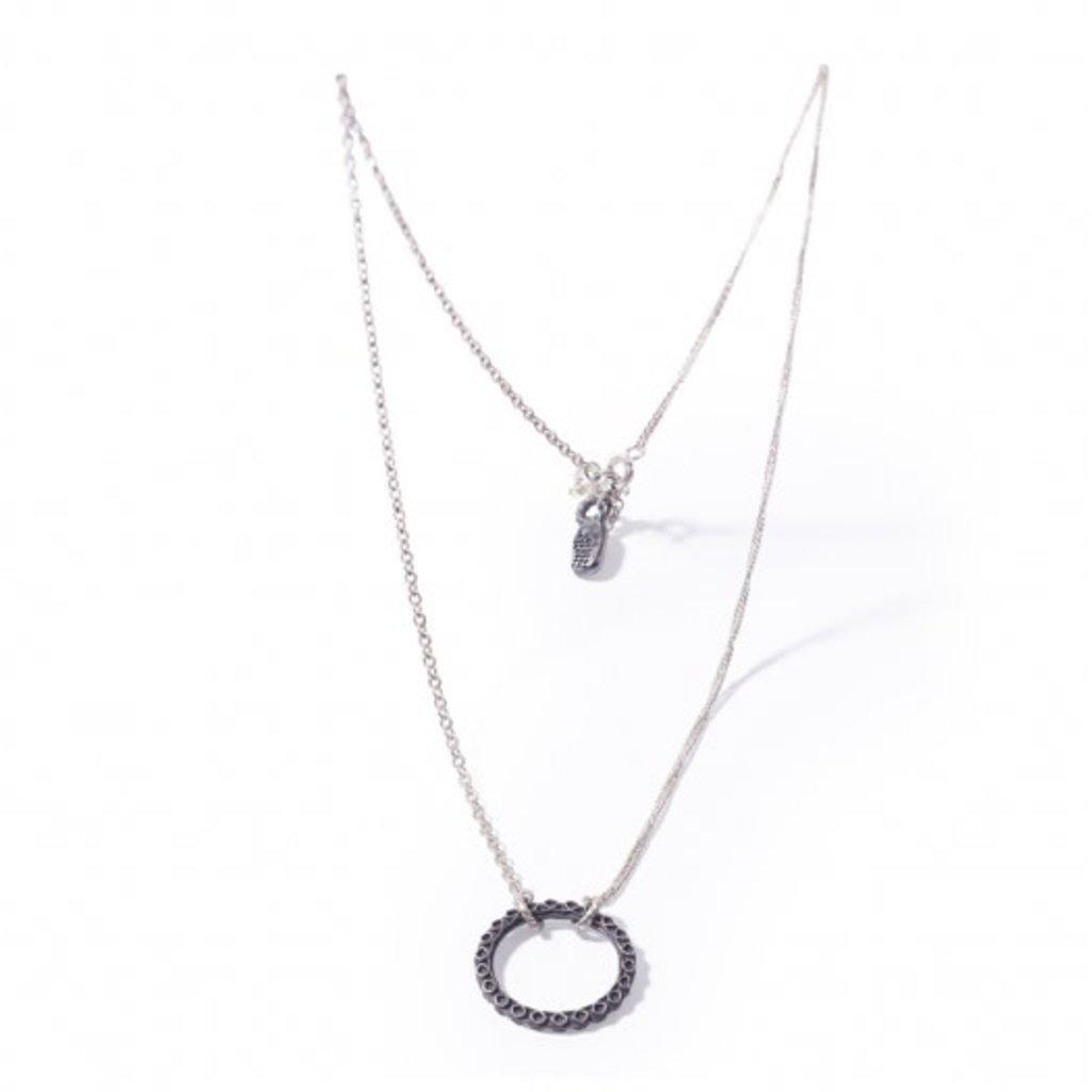Noosa NOOSA Symbol ketting Samsara Oxydized Silver