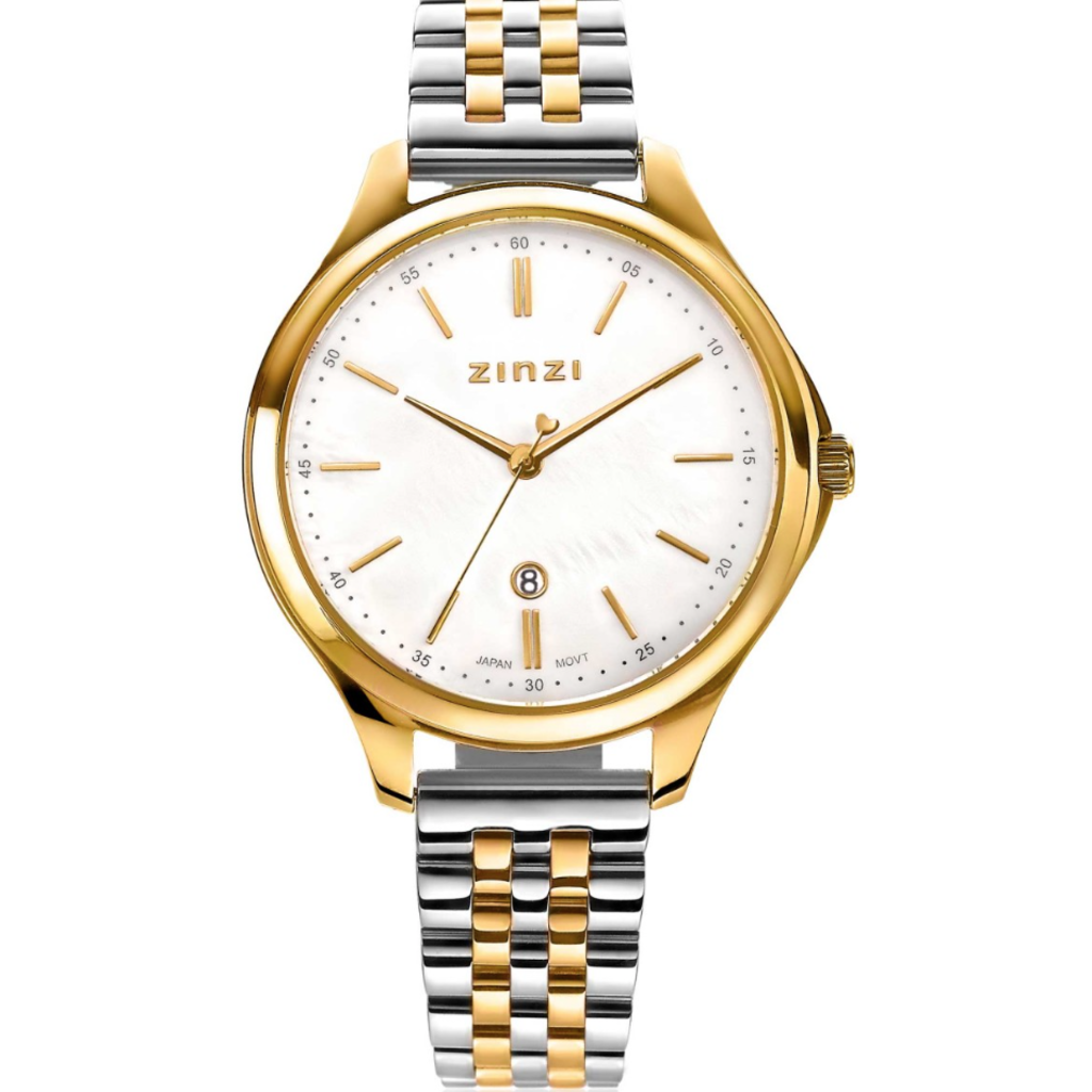 Zinzi Zinzi horloge Classy Silver Gold Plated Bicolor 34mm ziw1034