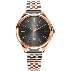 Zinzi Zinzi horloge Classy Grijs Rosé Gold Plated Bicolor 34mm ziw1027