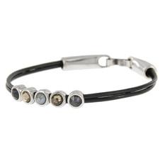 JOSH JOSH armband 18588 Black Mix Grey