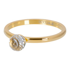 iXXXi Jewelry iXXXi vulring 2 mm Crystal Glass Ball Gold Plated