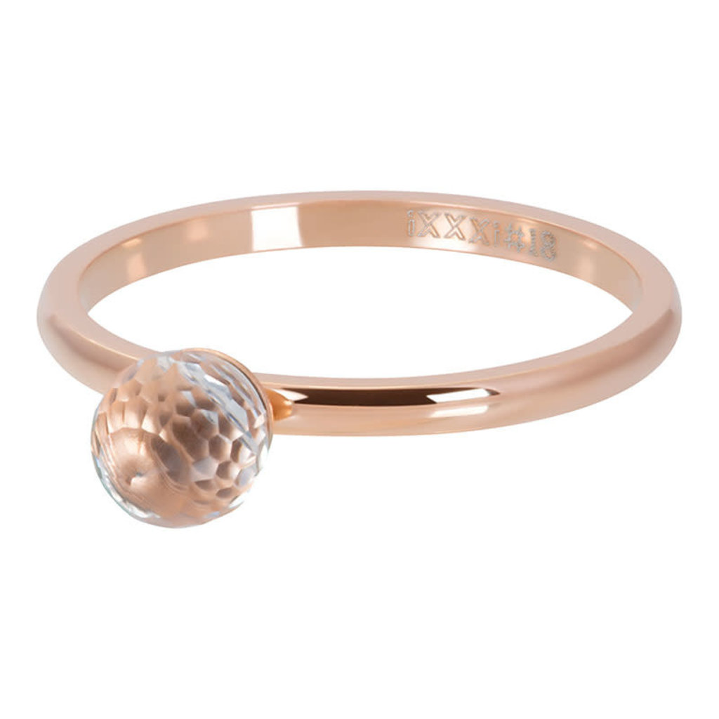 iXXXi Jewelry iXXXi vulring 2 mm Crystal Glass Ball Rosé Gold Plated