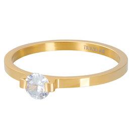 iXXXi Jewelry iXXXi vulring 2 mm Mini Glamour Stone Gold Plated