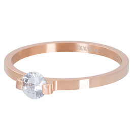 iXXXi Jewelry iXXXi vulring 2 mm Mini Glamour Stone Rosé Gold Plated