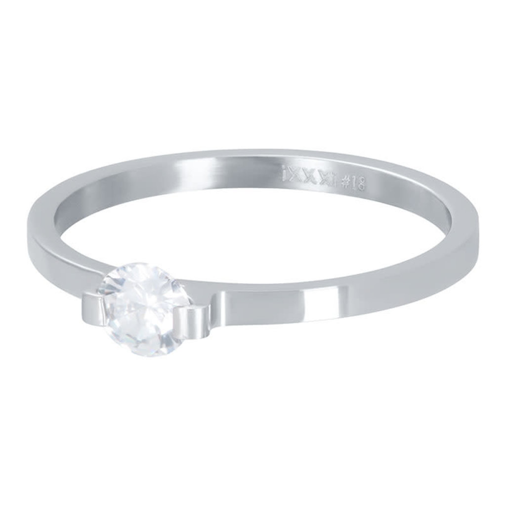 iXXXi Jewelry iXXXi vulring 2 mm Mini Glamour Stone Silver