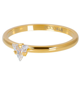 iXXXi Jewelry iXXXi vulring 2 mm Triangle Crystal Stone Gold Plated