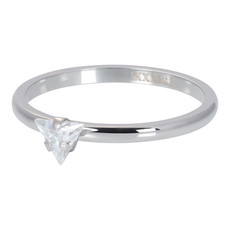 iXXXi Jewelry iXXXi vulring 2 mm Triangle Crystal Stone Silver