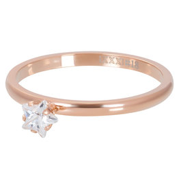 iXXXi Jewelry iXXXi vulring 2 mm Star Crystal Stone Rosé Gold Plated