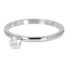 iXXXi Jewelry iXXXi vulring 2 mm Star Crystal Stone Silver