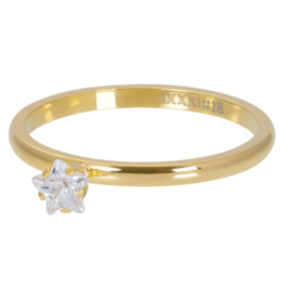 iXXXi Jewelry iXXXi vulring 2 mm Star Crystal Stone Gold Plated