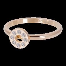 iXXXi Jewelry iXXXi vulring 2 mm Flat Circles Crystal Stone Rosé Gold Plated