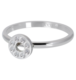 iXXXi Jewelry iXXXi vulring 2 mm Flat Circles Crystal Stone Silver