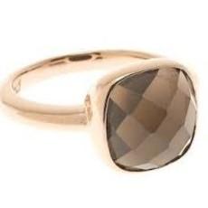 Bronzallure ring Facet Brown Rosé Gold