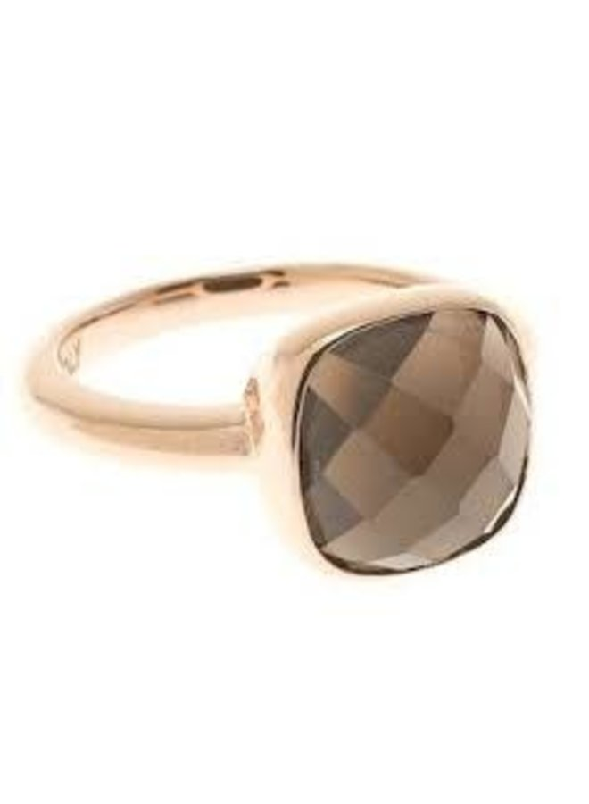 Bronzallure ring Facet Brown Rosé Gold