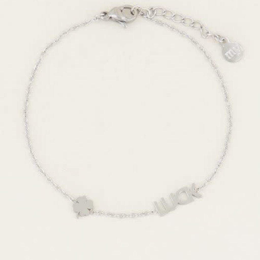 My Jewellery My Jewellery armband Luck met Klaver Zilver