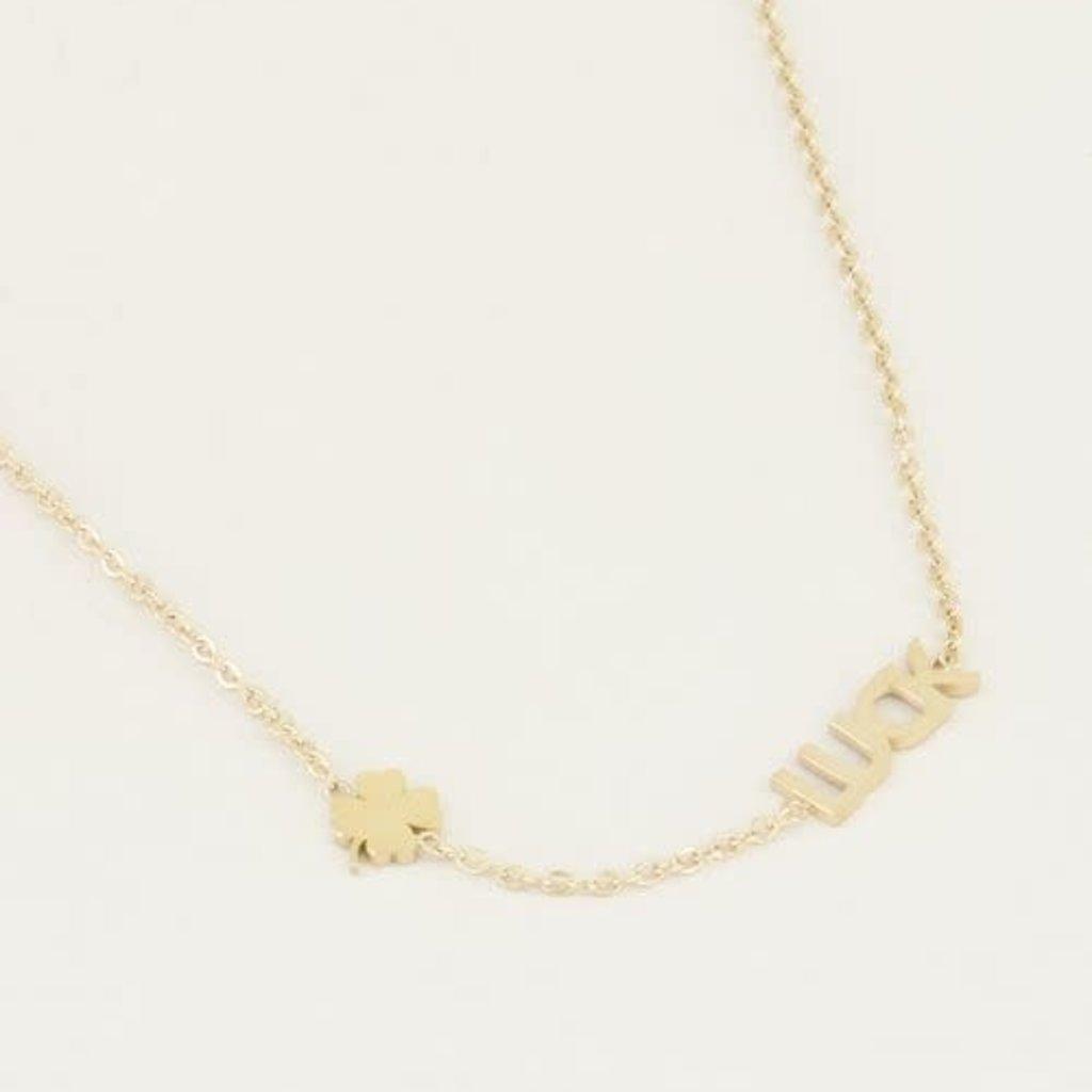 My Jewellery My Jewellery ketting Luck met Klaver Goud