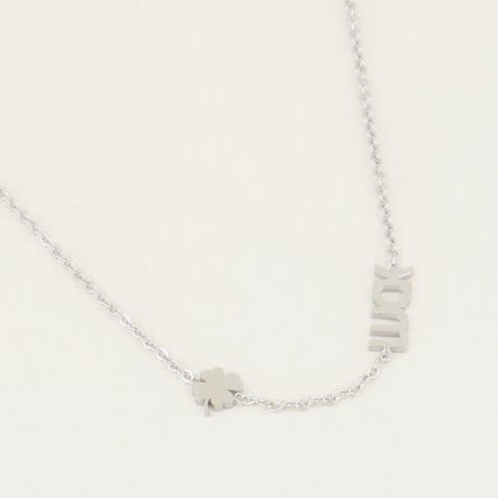 My Jewellery My Jewellery ketting Luck met Klaver Zilver