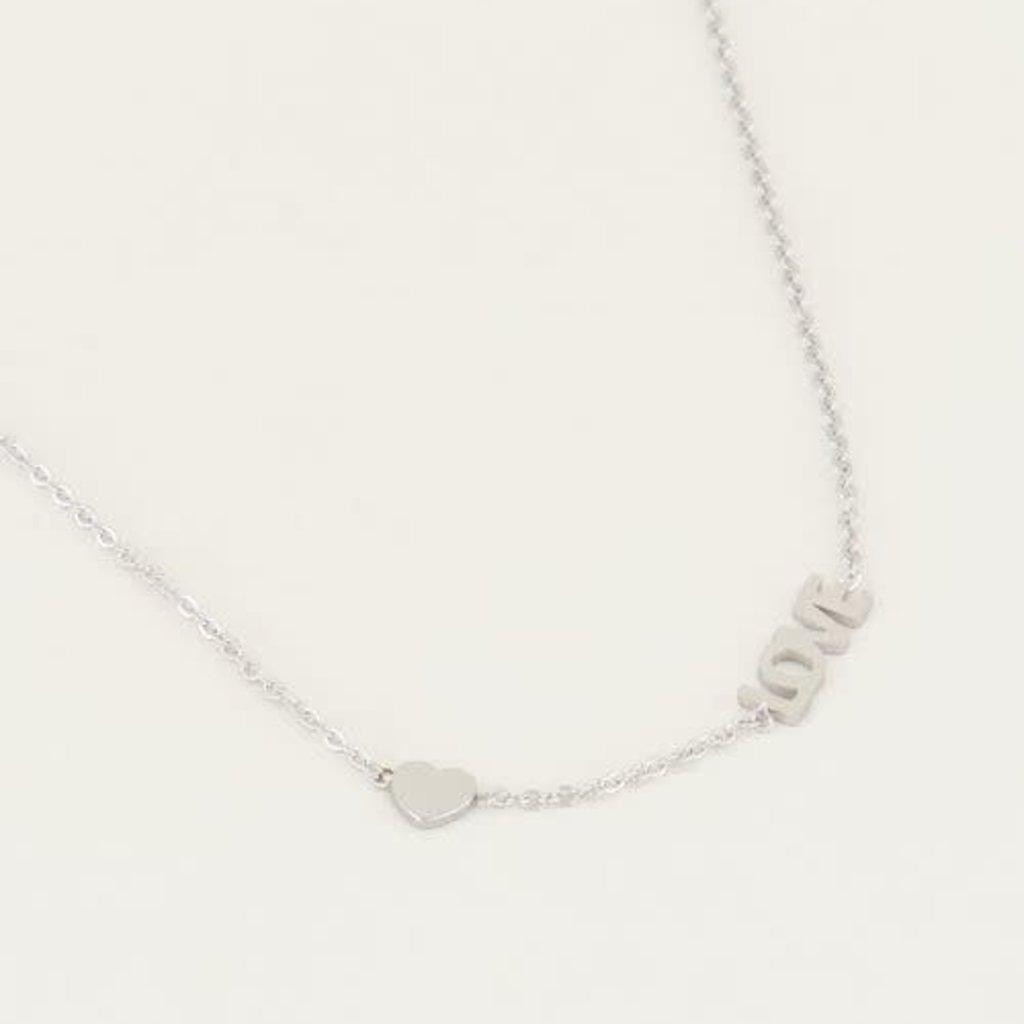 My Jewellery My Jewellery ketting Love met Hartje Zilver