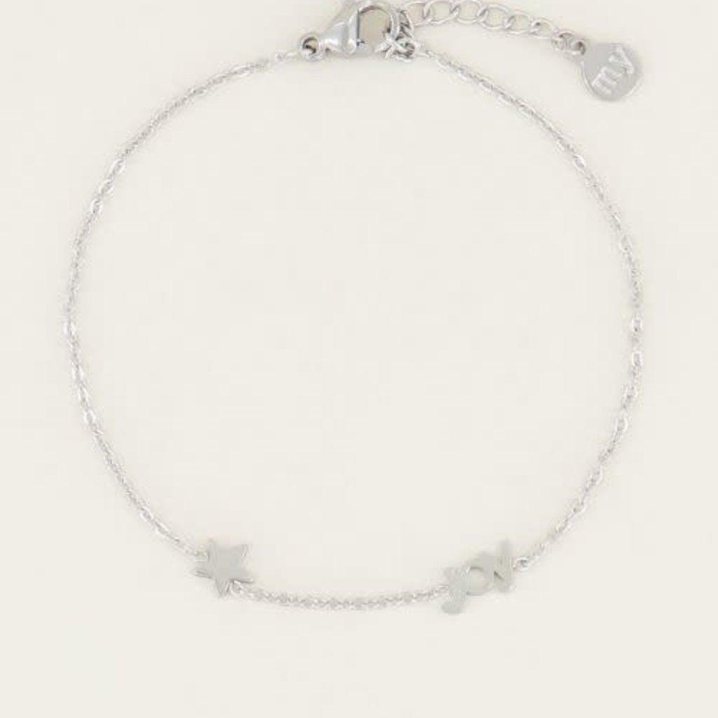 My Jewellery My Jewellery armband Joy met Ster Zilver