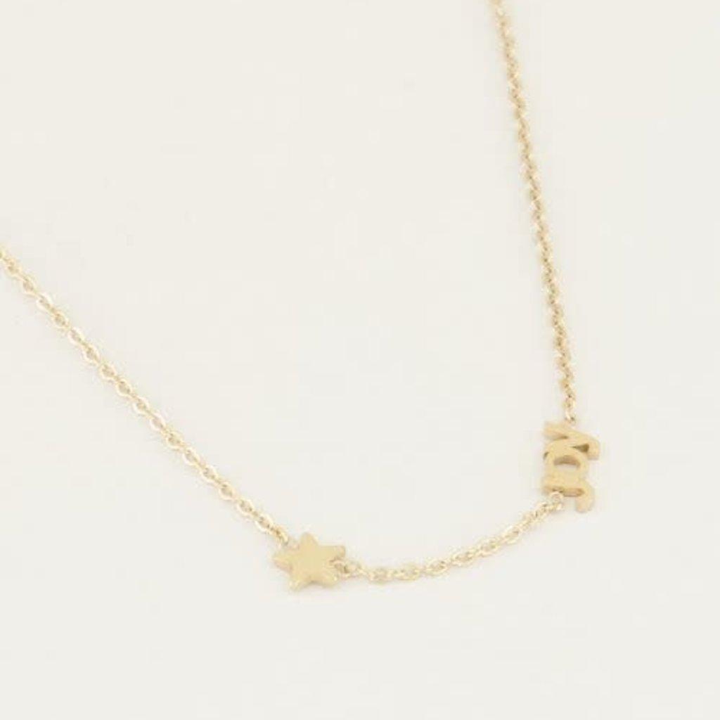 My Jewellery My Jewellery ketting Joy met Ster Goud