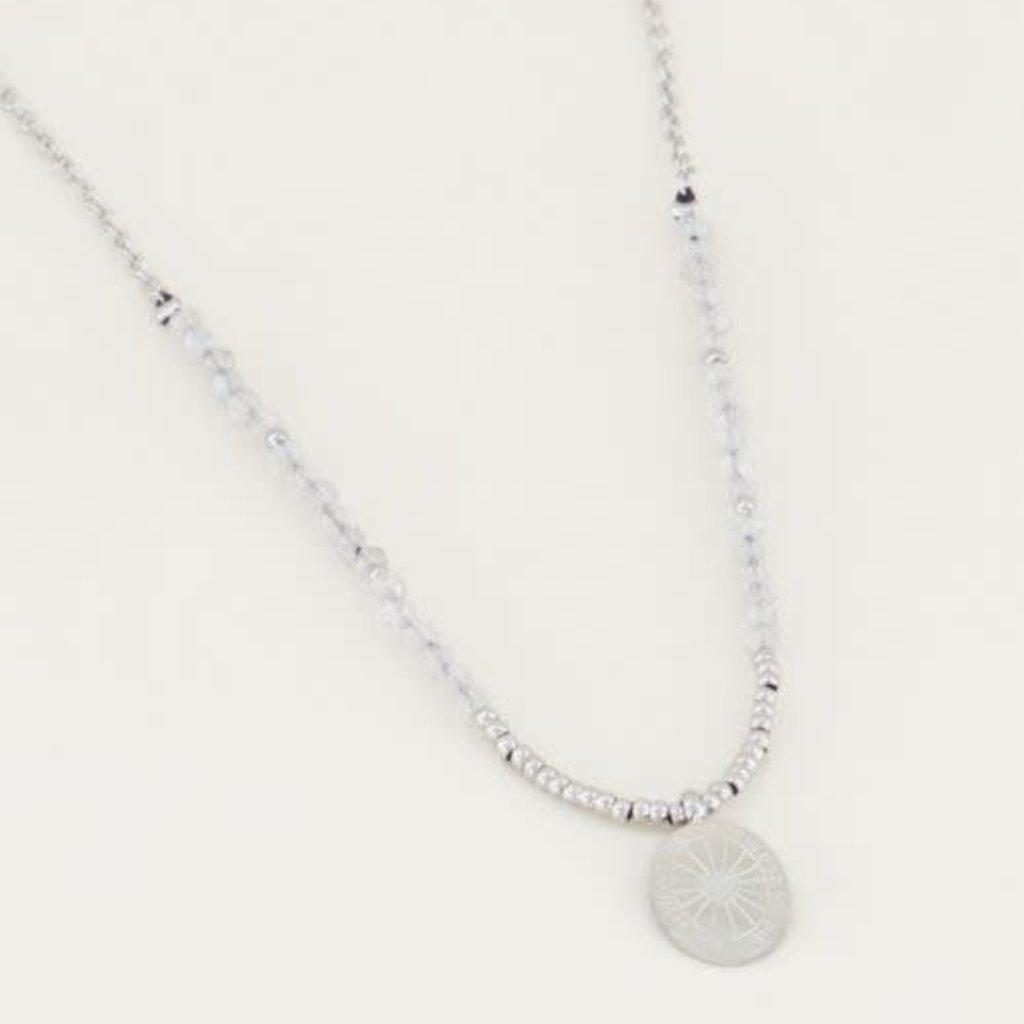 My Jewellery My Jewellery ketting Bedel & Labradorite Zilver