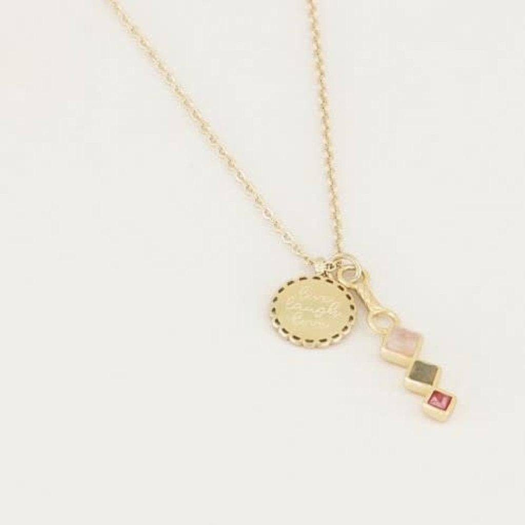 My Jewellery My Jewellery ketting Bedel & Lichte Edelsteentjes Goud