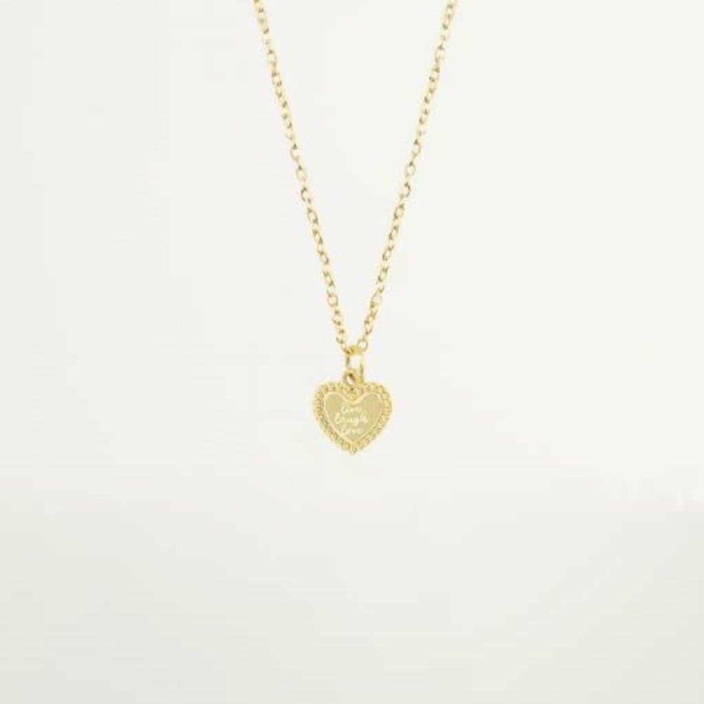 My Jewellery My Jewellery ketting Live Laugh Love Hart Goud