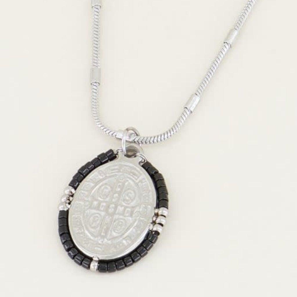 My Jewellery My Jewellery ketting Orientaalse Munt Zwart Zilver