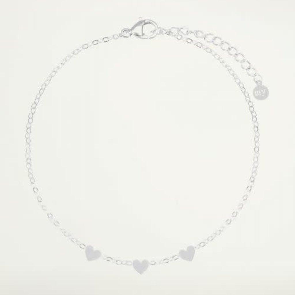 My Jewellery My Jewellery armband Graduation Drie Hartjes Zilver