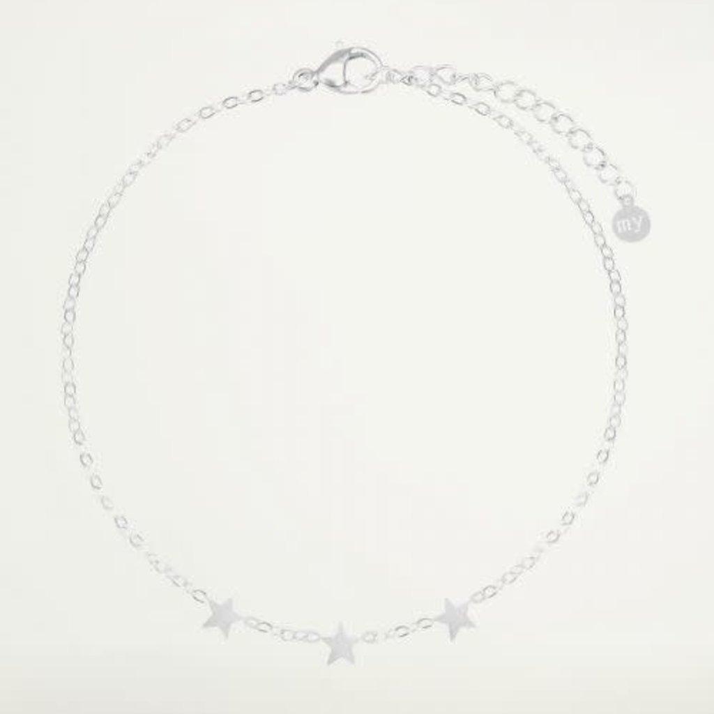 My Jewellery My Jewellery armband Graduation Drie Sterretjes Zilver