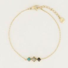 My Jewellery My Jewellery armband Donkere Edelsteentjes Goud